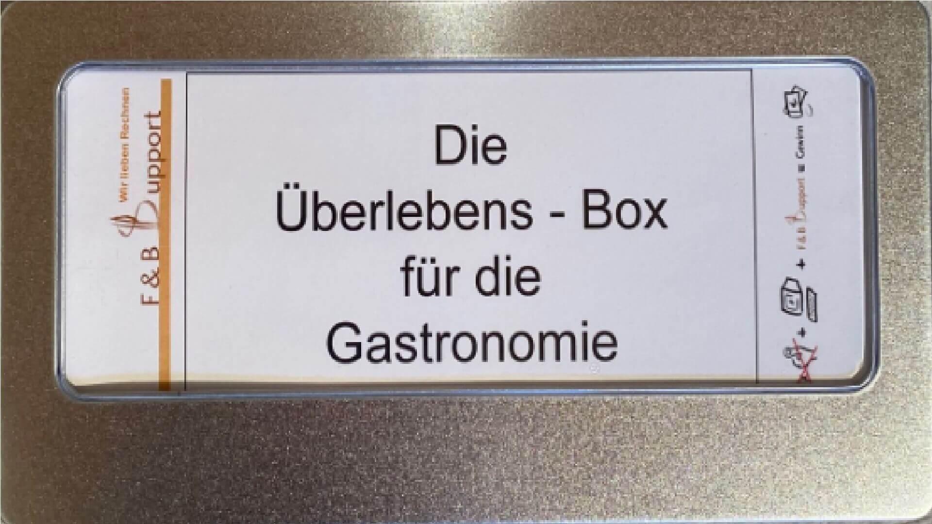 Die Überlebens - Box für die Gastronomie!